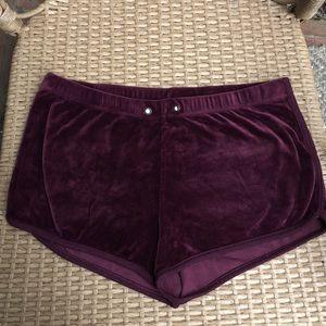 Velvet lounge shorts